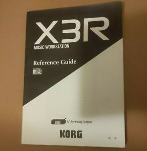 Original Korg X3R Synthesizer Reference Guide
