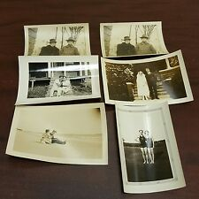 Lot of 6 Vintage Black & White Photos Couples Wife Husband