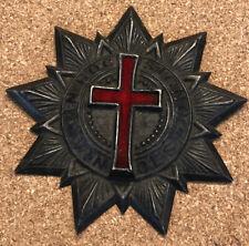 Vintage Knights Templar Masonic Freemason In Hoc Signo Vinces Hat Sash Badge