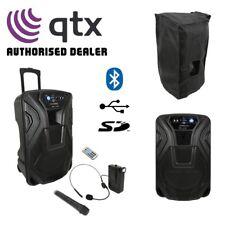 Qtx Partition 15U Portable Active 38.1cm Bluetooth USB Sd Système Haut-Parleur