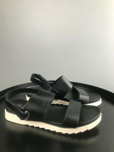 asos blink sandals summer black and white uk size 6 EUR 39