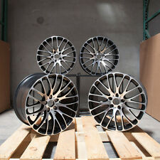 Used 20x9/20x10.5 MRR HR6 5x120 18/25 Black Machined Wheels set(4)