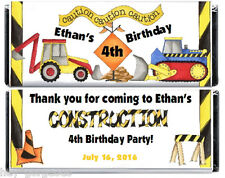 TONKA Truck 10ct. Construction Birthday Party Candy Bar Wrappers and Foil