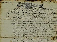 1690 Bail à rente FOURNIER CHAMBLY de St-Gratien à COIGNON de Saint-Félix