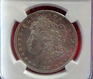 Beautiful NGC MS64 1881 S Silver Morgan Dollar VAM-78