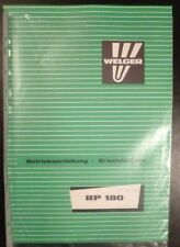 Welger Rollpresse RP180 Anleitung + ET-Katalog