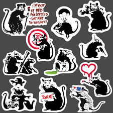 11x Banksy Sticker set vinyl graffiti street art stencil car bmx skate decal rat