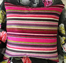 DESIGNERS GUILD ASOLO FABRIC CUSHION COVER COLOUR BERRY 18X18""