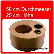 """Reserveradgehäuse für 30cm/12"""" Woofer, Größe XXL mit 52 Liter Volumen Bassreflex"""