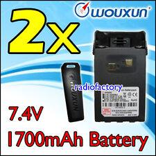 2x WOUXUN 1.7A Battery for KG-UVD1 KG-699 KG-679 KG-UV6D 2-033