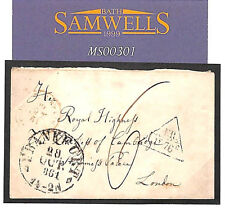 MS301 1861 GERMANY GB ROYALTY *Frankfurt* Cover Anglo-French Accountancy 1Fr76c