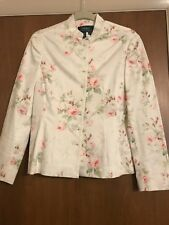 Lauren Ralph Lauren Fitted Ivory Floral Jacket -M - NWOT