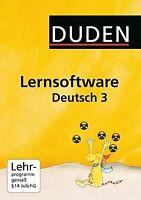 Duden Lernsoftware Deutsch 3 von Duden Paetec GmbH   Software   Zustand gut