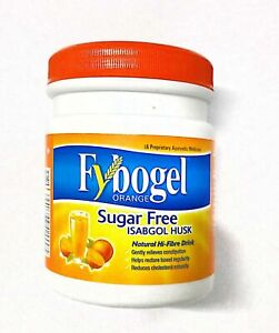 Fybogel Orange High-Fibre Orange Isabgol Husk - 100G - Pack Of 5 - Free Shipping