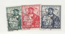 GERMANY Sc #662-64 Θ used Hanover Export Fair postage stamp set. ships boats