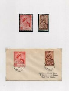 JAMAICA: George VI Examples/Cover - Ex-Old Time Collection - Album Page (41707)