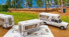 EZU-MAKE Papercraft 1/27 Camper Shell Ford Chevy Dodge paper trucks only READ!