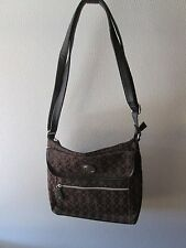 New Bueno Purse Handbag Shoulder Bag Large Black Brown Pockets Zippered