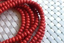 4x6mm red coral, spacer bead, red bead, jewelry making, coral 001