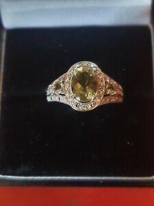 Qvc 9ct gold muilti gem Stone ring.