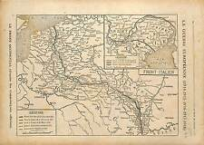 Map Carte Front Occidental Italia Italy Italie Trentino-Alto Adige  1918 WWI