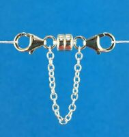 925 Sterling Silver Strong Magnetic Clasp Converter + Safety Chain Bracelets