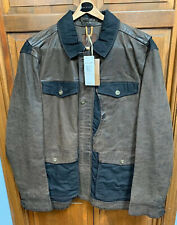 Timberland Tenon Leather Field Jacket Coat Brown Vintage TB07815J $898 NWT New