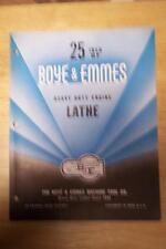 "Vtg Boye & Emmes Machine Tool Co Brochure~Model BF 25"" Engine Lathe~Catalog"