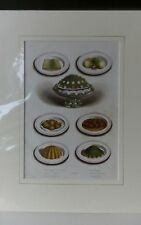 ANTIQUE PRINT: CASSELL 'S HOUSEHOLD HINTS.  FOOD DISHES. Ca.1880