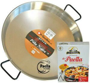 Induction Paella Pan 30cm - 42cm Vitroceramic Polished Steel PATA NEGRA + GIFT