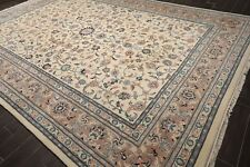10' x 14' Hand Knotted Superfine Wool Traditional Oriental Area rug 10x14 Ivory