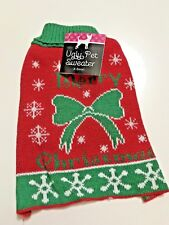 Dog Cat Puppy Pet Christmas Xmas Costume Clothes Ugly Sweater XS Merry X-mas