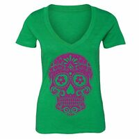 Sugar Skull Day of the Dead Shirt Mexican Gothic Dia Los Muertos Tshirt Green