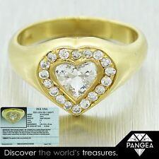 EGL Certified 18k Yellow Gold 0.68ctw Heart Shape Heart Diamond Engagement Ring