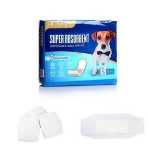 50 Pack Waist Disposable Dog Diapers Male Wraps Belly Bands Pet Soft(Small Size)