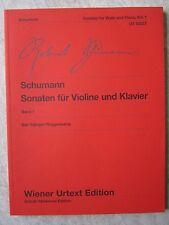 Schumann Sonatas for Violin and Piano Vol 1  pub. Wiener Urtext UT50237  NEW