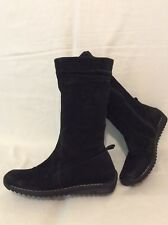 Dolcis Black Mid Calf Suede Boots Size 38