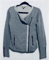 Lucky Brand Moto Jacket Sweater Cardigan Zipper Womens Size Medium