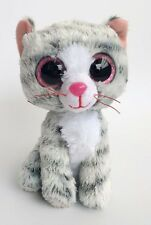 """6"""" TY Beanie Boos Animals Grey Cat 6 Inches No Tags Plush Stuffed Toys ty122"""