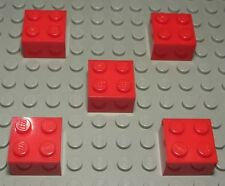 Lego Stein 2x2 Rot 5 Stück                                                 (856)
