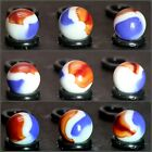 """2 Marbles Patriot by Mega Vacor 5/8"""" /- Retired  Very Collectible Great Gift"""