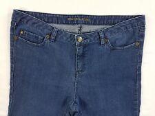 Michael Kors MK Fit Stretch Womens Denim Jeans Straight leg Pants sz 10 W34