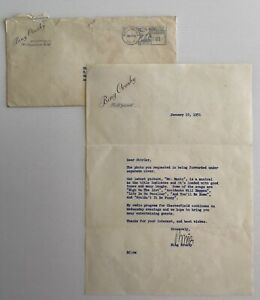 BING CROSBY Typed and Signed Letter about his latest picture, MR.MUSIC, 1951