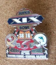 SB Super Bowl 19 XIX San Francisco 49ers Miami Dolphins Willabee & Ward pin W&W