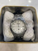MENS FOSSIL WATCH BLUE AM-3684 100 meter/330 Ft. Stainless Steel,water resistant