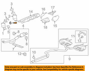 Buick GM OEM 2010 LaCrosse 3.0L-V6 Exhaust-Front Pipe Gasket 13297792