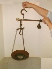 Steelyard scale 1800s brass copper beam balance roman pan antique 1853 OK