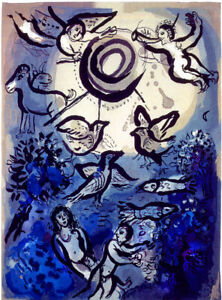 """Marc Chagall LIMITED EDITION Creation 1960 HIGH QUALITY GICLEE PRINT 9""""x12"""""""