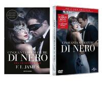 50 CINQUANTA SFUMATURE DI NERO (DVD + LIBRO) con Jamie Dornan EDIZIONE SEGRETA