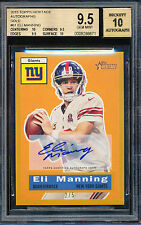 2015 TOPPS HERITAGE ELI MANNING GOLD AUTOGRAPH 2/5 BGS 9.5 10 AUTO RARE PARALLEL